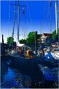 鈴木英人「海への搭乗ゲート」-WAITING TO CRUISE- 2008年 EMグラフ 額付版画作品 国内 送料無料