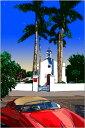 鈴木英人「南の教会の前で」-FLORIDIAN WEDDING- 2008年 EMグラフ 額付版画作品 国内 送料無料