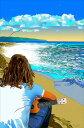 鈴木英人「ノースショアの聖地を想う」-THE SEA IS AN ENDLESS MELODY- 2009年 EMグラフ 額付版画作品 国内 送料無料
