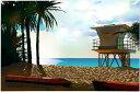 鈴木英人「サンセットビーチの光」-PASTEL DESTINATION- 2009年 EMグラフ 額付版画作品 国内 送料無料