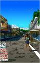 鈴木英人「昼下がりのダウンタウン」-SMALL TOWN SIMPLICITY- 2009年 EMグラフ 額付版画作品 国内 送料無料