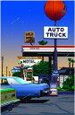 鈴木英人「オート トラック」-AMERICAN ESSENCE- 2009年 EMグラフ 額付版画作品 国内 送料無料