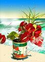 鈴木英人「海辺の花」 2009年 EMグラフ 額付版画作品 国内 送料無料