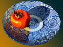 鈴木英人「柿と藍」 2010年 EMグラフ 額付版画作品 国内 送料無料