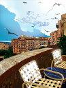 鈴木英人「コルシカの丘にて」-PARADISE TERRACE- 2011年 EMグラフ 額付版画作品 国内 送料無料