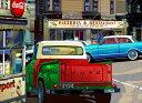 鈴木英人「フォード ダウンタウン」-FORD DOWNTOWN- 2013年 EMグラフ 額付版画作品国内 送料無料