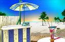 鈴木英人「マイアミビーチの甘い罠」MIAMI BEACH TRAP2013年 EMグラフ 額付版画作品国内 送料無料