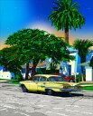 鈴木英人「ロスの黄色い友人」LIVING IN L.A.2013年 EMグラフ 額付版画作品国内 送料無料