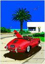 鈴木英人「ローズレッド ロードスター2」-ROSE RED ROADSTER II- 2012年 EMグラフ 額付版画作品国内 送料無料