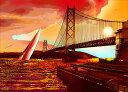 鈴木英人「サンセットクルーズ」 2013年 EMグラフ 額付版画作品国内 送料無料