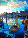 鈴木英人「島の友人 2」 2017年 EMグラフ 額付版画作品国内 送料無料