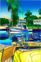 鈴木英人「君住む楽園2」 2018年 EMグラフ 額付版画作品国内 送料無料