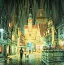 美术, 美术品, 古董, 民间工艺品 - 笹倉鉄平 「ローテンブルクの雨」 2004年 シルクスクリーン 額付版画作品