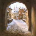 笹倉 鉄平 「マイセンで見た光」A Mild Winter Light, Meissen2019年11月リリース キャンバス・ジグレー 額付版画作品【送料無料】