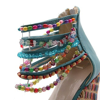 Exotic プリンセスウエジソール beaded decoration Sandals mules wedding parties celebrity party shoes sale new