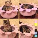 ペット ベッド 犬 ベッド 冬 猫 ベッド 寝具 ラウンド方 花型 ピンク イエロー ブラウン ブルー グリーン イエロー ペット用品 オシャ..