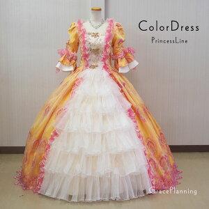 中世貴族衣装お姫様カラードレス プリンセスドレス (9