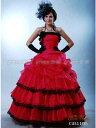カラードレス【送料無料】【サイズオーダー】5〜25号 ローズピンク×黒プリンセスライン格安ウエディングドレスロングドレス演奏会