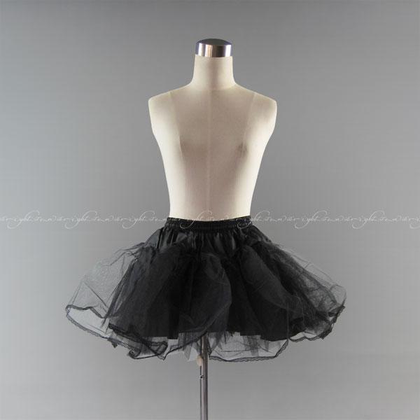 パニエ 大人用ミニ丈パニエ(丈40cm/ブラック/黒)ショートドレス ミニドレス用パニエ ミニスカートやドレスをボリュームアップ パーティゴスロリロリータファッションにも イベント コスプレ ハロウィン(01036bk-t)
