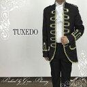 貴族風スーツ《Lサイズ》ブラックドレスアップスーツ4点セット コスプレ 王子様舞台ステージ衣装結婚式二次会 11701bk-T