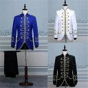 【サイズ有S/M/L】演出服 華麗な王族服 王子様 復古風 コスプレ衣装 将軍様衣装 ダンスパーティ