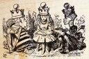 ラバースタンプ 鏡の国のアリス Math Quiz テニエル画 木の持ち手 【ウッドマウント】 輸入スタンプ アートスタンプ ゴム印 スタンプ