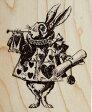 ラバースタンプ 不思議の国のアリス Queen's Herald テニエル画  木の持ち手 【ウッドマウント】 輸入スタンプ アートスタンプ・ゴム印 ゴム印・スタンプ【532P17Sep16】