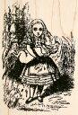 ラバースタンプ 不思議の国のアリス Alice and Baby Pigテニエル画  木の持ち手 【ウッドマウント】 輸入スタンプ ゴム印・スタンプ【05P01Oct16】