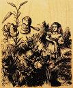 ラバースタンプ 鏡の国のアリス Talking Tiger Lily テニエル画 木の持ち手 【ウッドマウント】 輸入スタンプ アートスタンプ ゴム印 スタンプ
