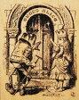 ラバースタンプ 鏡の国のアリス Queen Alice Doorテニエル画  木の持ち手 【ウッドマウント】  輸入スタンプ アートスタンプ【05P07Feb16】