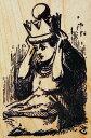 ラバースタンプ 鏡の国のアリス Queen Alice テニエル画 木の持ち手 【ウッドマウント】 輸入スタンプ アートスタンプ ゴム印 スタンプ