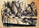 Rubber stamp [Wood mount] import of handles stamp [05P17May13] of the Alice in Wonderland 《 Mad Tea Party 》 テニエル image tree