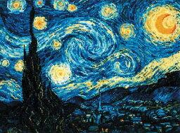 クロスステッチ 刺繍キット RIOLIS ゴッホ 星月夜 Starry Night / Van Gogh メール便(ゆうパケット)送料無料 極細毛糸で刺すロシアのキット リオリス 名画