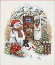 #庭の物置小屋とスノーマン Dimensions クロスステッチ 刺繍キット クリスマス Garden Shed Snowman 08817