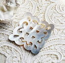 白蝶貝の糸巻き ブルゴーニュ マザーオブパール 手芸 シェル 天然貝