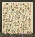 Rosewood Manor クロスステッチ 刺繍図案 LANGUAGE OF THE FLOWERS ローズウッドマナー アルファベット付き