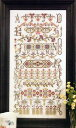 Rosewood Manor クロスステッチ 刺繍図案 BUCKLEBURY SAMPLER  ローズウッドマナー アルファベット付き