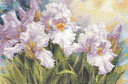 メール便送料無料 アリサ ALISA 花のクロスステッチ 刺繍キット 白いアイリス クロス