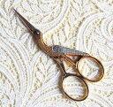 コウノトリ刺繍ハサミws179ゴールド ドイツ ゾーリンゲン製 手芸 糸切り 鋏 【05P03Dec16】