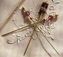 ピンクッションの飾りに ハットピン ラベンダーアイス 3本セット