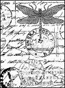 《ドラゴンフライ トラベル》 【アンマウント】 ラバースタンプ 輸入スタンプ
