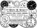 《時計店のコラージュ》 【アンマウント】 ラバースタンプ 輸入スタンプ 【05P13Jun14】【HLS_DU】