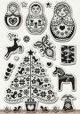 クリスマスのクリアスタンプセット クリスマスとマトリョーシカ 19種類のスタンプ  輸入スタンプ アートスタンプ 【05P03Dec16】