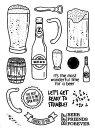 クリアスタンプ あなたに乾杯・ビール 輸入スタンプ アートスタンプ