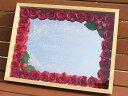 送料無料!ウエルカムボード 【ベリー&ローズ】立体額 ミラーにお名前・日付を彫刻!