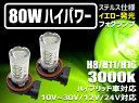 ステルス仕様【ハイブリッド,EV,12v,24v全て対応】LEDフォグランプ 80W イエロー色発光 3000K H8/H11/H16/HB3/HB4/PSX2...
