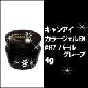 キャンアイ CanI カラージェル EX #87 パールグレープ 4gジェルネイル/JNA/技能/検定/協会/指定商品/プロ/セルフ/ネイル/ネイルサロン/UV/LED