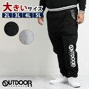 【大きいサイズ・メンズ】アウトドアプロダクツ/OUTDOOR PRODUCTS ダンボール裾ロゴスウェットパンツ  グランバック 大きいサイズ