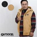 【大きいサイズ・メンズ】アウトドアプロダクツ/OUTDOOR PRODUCTS シープボア フルジップパーカーベスト  グランバック 大きいサイズ