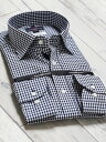 【メンズ】綿100% 形態安定 レギュラーフィット ワイドカラー長袖シャツ 2020春の新作